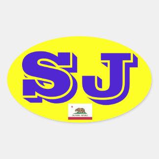 Euro- etiqueta oval de San Jose