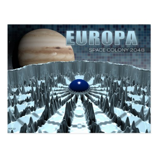 Europa 2048 cartão postal