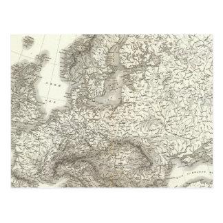 Europa do Orograph - mapa físico de Europa Cartão Postal