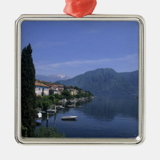 Europa, Italia, lago Como, Tremezzo. Norte Ornamento Quadrado Cor Prata