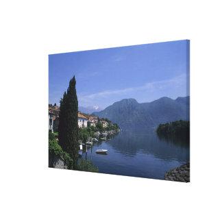 Europa, Italia, lago Como, Tremezzo. Norte Impressão De Canvas Envolvida
