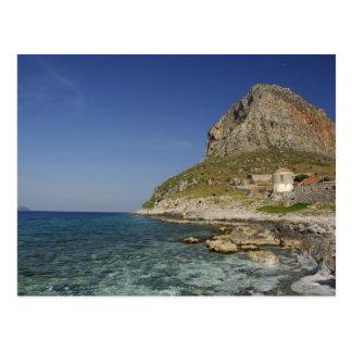Europa, piscina, Peloponnese, Monemvasia. Cartão Postal