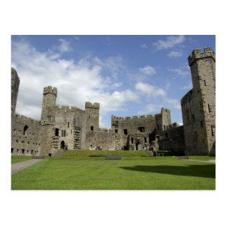 Europa, Wales, Caernarfon. Castelo de Caernarfon, Cartão Postal