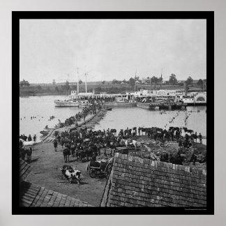 Evacuação militar no porto real, VA 1864 Poster