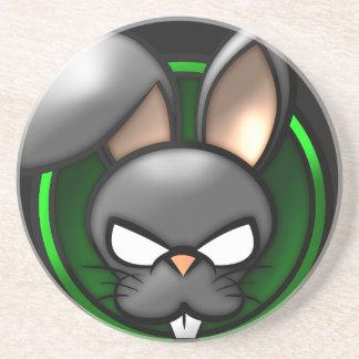 Evil Rabbit Cartoon Porta Copos De Arenito