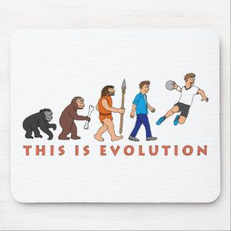 Evolução andebol banda desenhada Style Mouse Pad