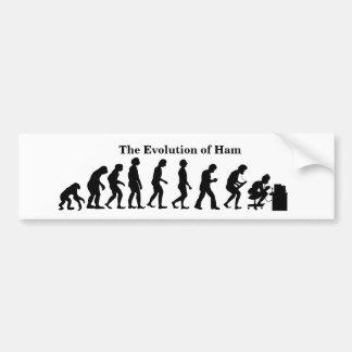 Evolução do autocolante no vidro traseiro do homem adesivo de para-choque