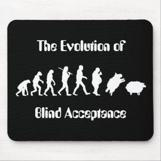 Evolução engraçada da paródia do homem mouse pad