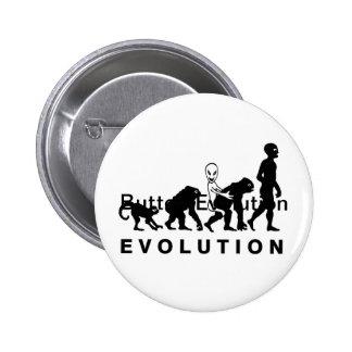 Evolução engraçada do botão bóton redondo 5.08cm