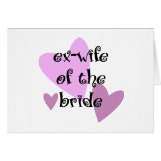 Ex-Esposa da noiva Cartoes