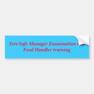 Exame do gerente de ServSafe e alimentador de comi Adesivo Para Carro
