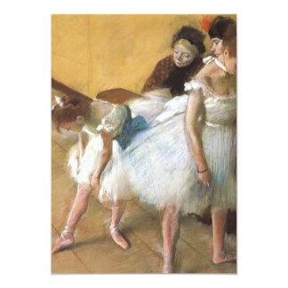Exame por Edgar Degas, balé da dança do vintage Convite 12.7 X 17.78cm