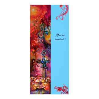 EXCALIBUR vermelho brilhante azul cor-de-rosa Convite Personalizados