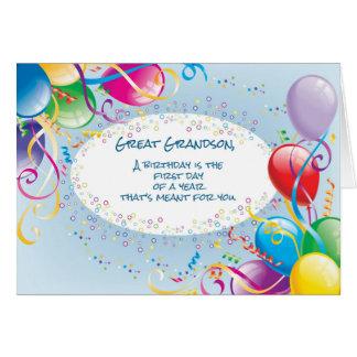 Excelente - balões do aniversário do neto cartoes