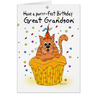 excelente - cartão de aniversário do neto com