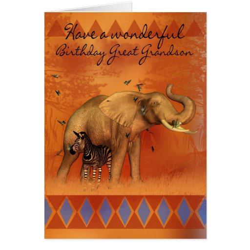 Excelente - cartão de aniversário do neto com elef