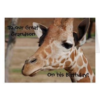 Excelente - cartão de aniversário do neto com gira