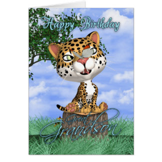 Excelente - cartão de aniversário do neto com Jagu
