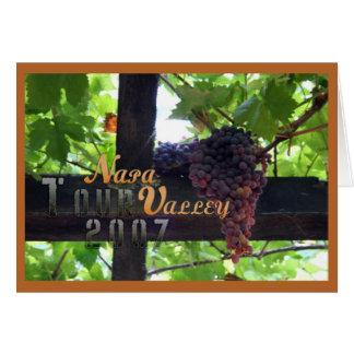 Excursão 2007 de Napa Valley Cartão Comemorativo