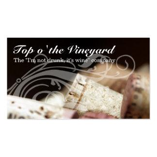 excursões do vinhedo da degustação de vinhos do so cartoes de visita