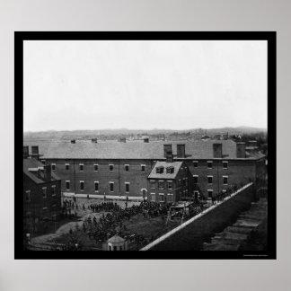 Execução dos conspiradores 1865 de Lincoln Impressão