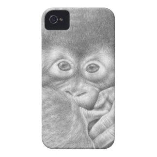 Exemplo da case mate do orangotango do bebê capa para iPhone 4 Case-Mate