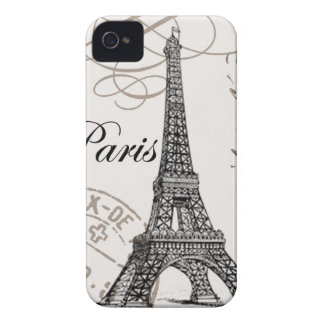 Exemplo de Paris… Blackberry do vintage Capinhas iPhone 4