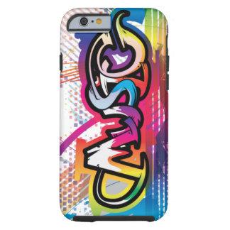 exemplo dos grafites da música do caso do iPhone 6 Capa Para iPhone 6 Tough