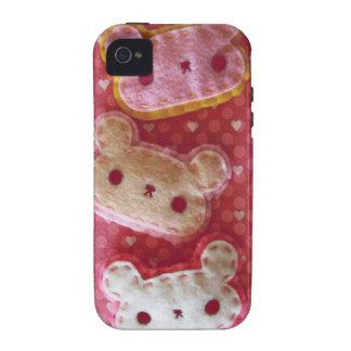 Exemplo feminino bonito dos ursos de Kawaii Capa Para iPhone 4/4S