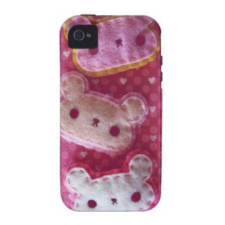 Exemplo feminino bonito dos ursos de Kawaii Capinhas iPhone 4/4S