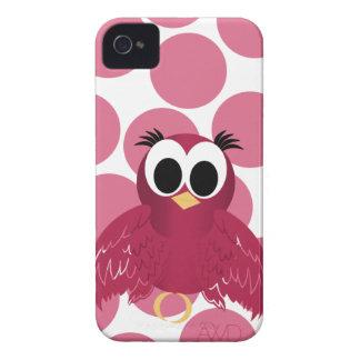 Exemplo iphone4 feminino do pássaro cor-de-rosa e capinhas iPhone 4