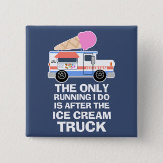 Exercício do caminhão do sorvete bóton quadrado 5.08cm