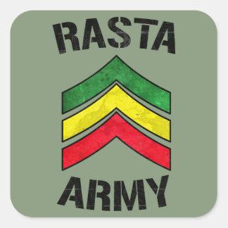 Exército de Rasta Adesivo Quadrado