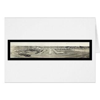 Exército em Dallas, foto justa 1915 do estado de Cartão