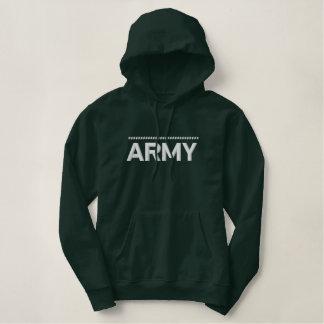 Exército Moletom Com Capuz Pulôver Bordado