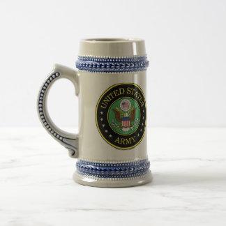 exército velho caneca de cerveja
