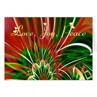 Exhuberance festivo cartão comemorativo