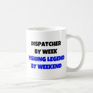 Expedidor pela legenda da pesca da semana em o fim caneca de café