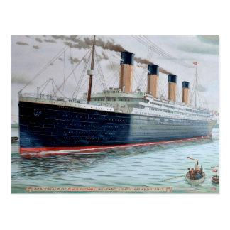 Experimentações de mar do RMS titânicas Cartão Postal
