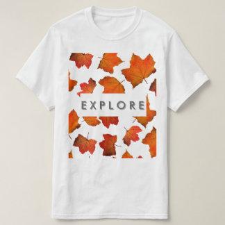 Explore com folhas tshirts