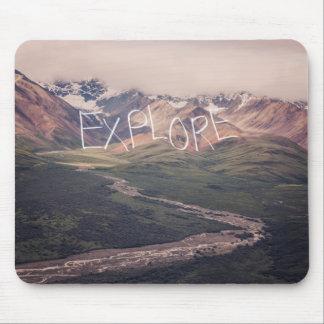 Explore o tapete do rato do Alasca da paisagem | Mouse Pad