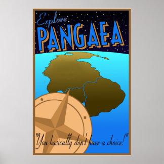 """""""Explore poster de viagens retro de Pangaea"""""""