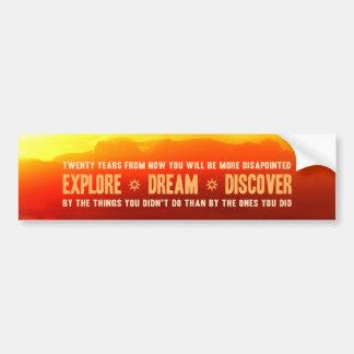 Explore. Sonho. Descubra Adesivo Para Carro