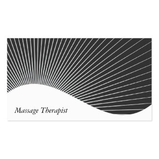 Explosão do raio do terapeuta da massagem cartão de visita