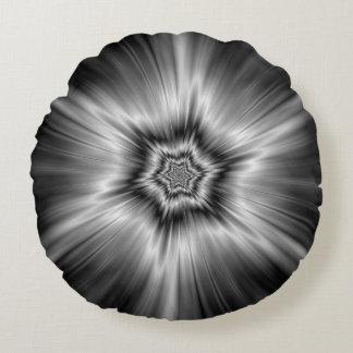 Explosão preto e branco da estrela almofada redonda