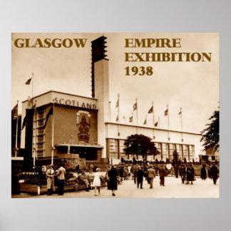exposição 1938 do império de glasgow poster