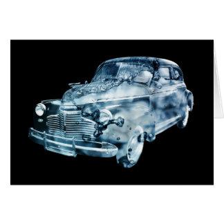 exposição dobro do lavagem de carros cartão comemorativo