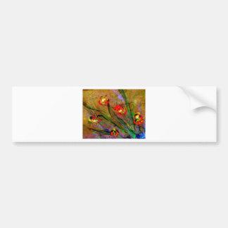 expressionista da flor adesivo para carro