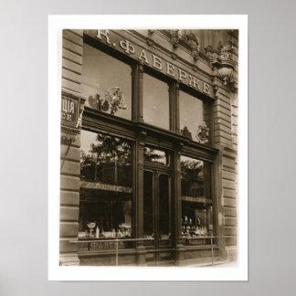 Exterior da loja de Faberge, St Petersburg, conde Poster