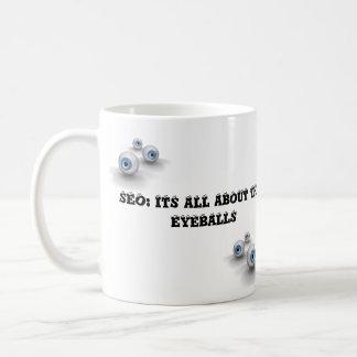 eyballs do seo caneca de café